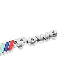 logo métallique puissance voiture de stickers décoratifs, décoration de voiture