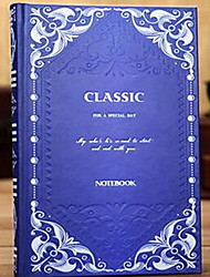 Retro Thick Continental Carved Business Notebook Classical Hardfacing Diary Book