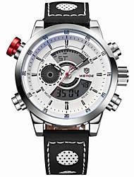 WEIDE Мужской Наручные часы LCD Календарь Секундомер Защита от влаги С двумя часовыми поясами тревога Спортивные часыКварцевый Японский