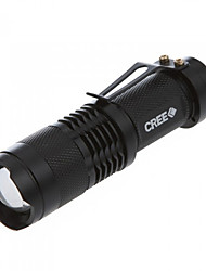Lights LED Flashlights/Torch / Handheld Flashlights/Torch LED 350 Lumens 3 Mode Cree Q5 14500 / AAAdjustable Focus / Impact Resistant /