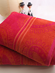 """1 PC Full Cotton Bath Sheet 35"""" by 70"""" Super Soft Strong Water Absorption Capacity Floral Pattern"""