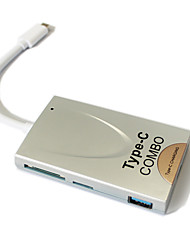 Type C 3.0 Card Reader Type-C + Hub 3.0 Hub Card Reader Usb3.0Hub Pros Rechargeable 3 USB Ports