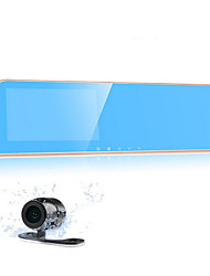 4.3 Screen Dual Lens Recorder K10 HD Wide-Angle Rearview Mirror Tachograph Night Vision 1080p