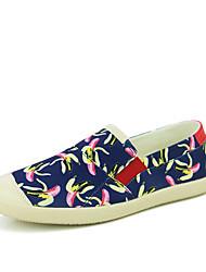 Herren-Loafers & Slip-Ons-Lässig-Stoff-Flacher AbsatzSchwarz Blau Weiß