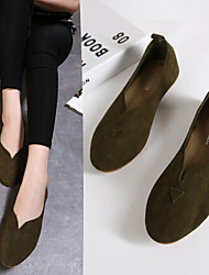 Women's Flats Spring / Summer / Fall Flats Suede Casual Flat Heel Others Black / Green / Gray / Coffee Others
