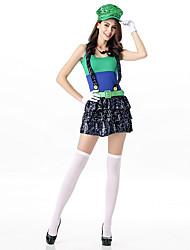 Super Mario Costume Women Iuigi Costume Clothing Plumber Costume Adult Anime Cosplay