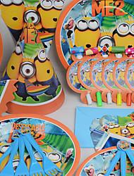 Aniversário Festa Tableware-6Peça/Conjunto Conjuntos de Toalhas de Mesa Marcador Plastic Tema Clássico Other Não-Personalizado