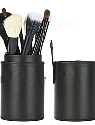 12Pcs Black Wool Makeup Brushes Set