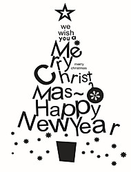 Wall Stickers Wall Decals Style Christmas Tree PVC Wall Stickers