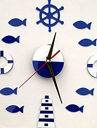 Nature morte Stickers muraux Stickers avion Stickers horloge,PVC Matériel Repositionable Décoration d'intérieur Wall Decal