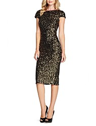 Women's Sexy Backside Deep V Sequins Bling Bling Party/Cocktail Bodycon Midi Dress