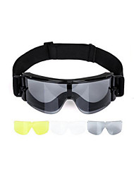 Anti Impact And Anti Wind Protective Glasses(Three Pieces of Ophthalmic Lens)