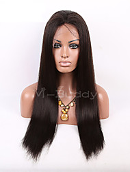 "10""-26"" India  Virgin Hair Straight  Full Lace Wig&Lace Front Wig Multicolor optional  With Baby Hair for  Women"