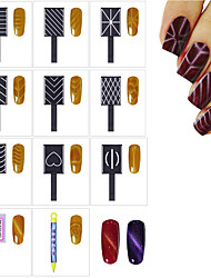 11pcs  Cat Eyes 3D Magnet Stick Magnet Drawing Vertical Stick  3D Magical Nail Tool