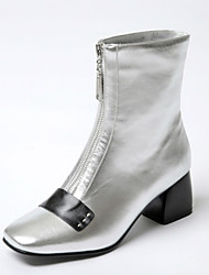 Women's Boots Fall / Winter Fashion Boots / Square Toe Leatherette Office & Career / Dress / Casual Chunky Heel Zipper
