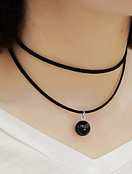 Women's Pendant Necklaces Pearl Imitation Pearl Flannelette Fashion White Black Jewelry Party Daily Casual 1pc