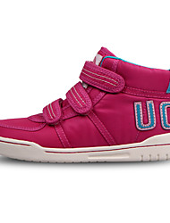 UOVO Girl's Sneakers  Fall / Winter Comfort / Round Toe Suede / Customized Materials Casual Flat Heel Magic Tape Pink