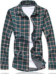 Men's Fashion Casual  Long Sleeve Shirt Plus Size (Cotton)