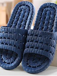 Masculino-Chinelos e flip-flopsRasteiro-Azul Marrom Cinza-PVC-Casual