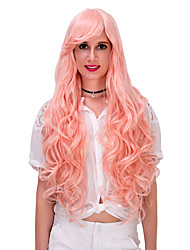 Orange pink long hair wig.WIG LOLITA, Halloween Wig, color wig, fashion wig, natural wig, COSPLAY wig.