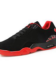 Da uomo-scarpe da ginnastica-Tempo libero-Ballerine-Piatto-Felpato-Bianco / Nero e bianco / Nero e oro / Nero e rosso