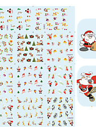 11 Designs Nail Art Christmas Stickers Happy Christmas Image Nail Decoration BLE111-121
