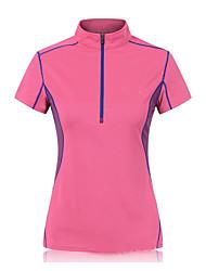 Running Sweatshirt Women's Short Sleeve Breathable / Quick Dry