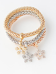 Bracelet Wrap Bracelet Alloy Flower Fashion Wedding / Party Jewelry Gift Gold,1pc