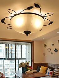 60W Flush Mount ,  Modern/Contemporary / Country Painting Feature for Mini Style Metal Bedroom / Dining Room / Entry