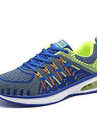Masculino-Tênis-Conforto-Rasteiro-Preto Laranja Azul Real-Tecido-Para Esporte