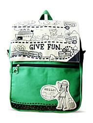 Flower Princess® Women Canvas Backpack Green-A2011105488