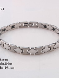 Silver ID Chain Bracelet for Men/Women