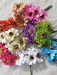 Raw Silk Simulation Sun Flower Bouquet DIY Braided Wreath Ornaments A Bunch Of Six A Pack Of 72