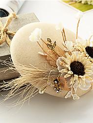 Femme Lin Tissu Casque-Mariage Occasion spéciale Coiffure 1 Pièce
