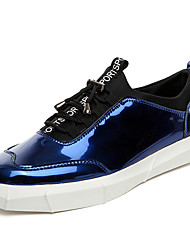 Femme-Décontracté / Sport-Noir / Bleu / Bronze-Talon Plat-Confort-Sneakers-Cuir