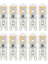 Ywxlight® 10 pcs gradable 4w g9 lumières led 14 smd 2835 300-400lm chaud / naturel / frais blanc ac 220 / 110v