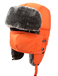 Chapka Hat / Fur Hat Ski Hat Women's / Men's / Kid's Thermal / Warm Snowboard Polyester Yellow / Red / Pink / Black / BlueSkiing /