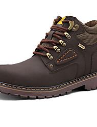 Men's Boots Spring / Fall Comfort / Cap-Toe Leather Casual Flat Heel  Brown / Yellow / Tan / Burgundy Walking
