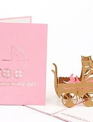 Convites do partido 1 Peça/Conjunto Cartões de convite / Cartões de Aniversário Dobrado de Lado Não personalizado