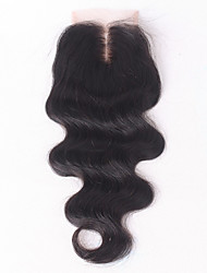 Body Wave Virgin Indian Hair 4x4 inch Top Lace Closure Bleach Knots