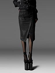 панка рейв Q-197 женщин год сбора винограда / сексуальные / случайные микро-упругой юбки средней длиной до колен
