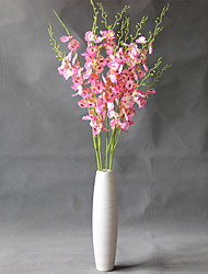 Hi-Q 1Pc Decorative Flowers Real For Wedding Home Table Decoration  Dancing Lady Orchid Artificial Flowers
