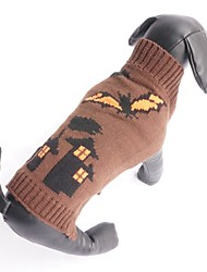 Cat / Dog Sweater Coffee Dog Clothes Winter Vampires Halloween