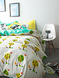Trees brief style 4piece bedding sets print duvet cover Sets 100% Cotton Bedding Set Queen Size