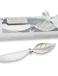 Bachelorette / Bridesmaids / Beter Gifts® Recipient Gifts - Chrome Leaf Spreader Wedding Bridal Tea Party Favors