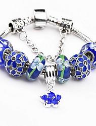 Damen Bettelarmbänder Strang-Armbänder Modisch Edelstein Schmuck Blau Schmuck Für 1 Stück