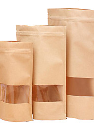 Shelf Multi-Standard Window Kraft Paper Bags Self-Styled Self-Dates Nuts Vacuum Food Bags A Pack Of Ten