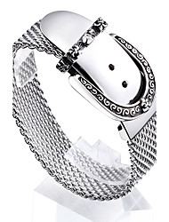 2016 Trendy Shiny 316L Stainless Steel High Polishing Men's Mesh Chain Bracelet Wholesale Jewelry Gift