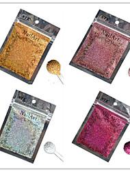 1pcs nail art beau coloré couleur paillettes laser poudre décoration des ongles diy l01-04