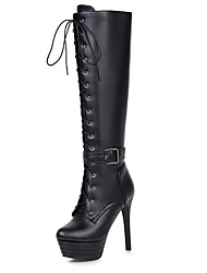 Women's Boots Spring / Fall / Winter Platform / Fashion Boots Leatherette Outdoor / Casual Stiletto HeelBuckle